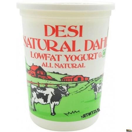 Desi Natural Dahi Low fat Yogurt - 2 lb