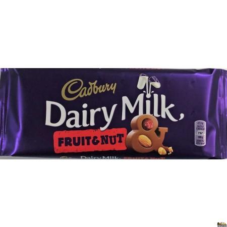 Cadbury Fruit and nut Chocolate bar - 110gm