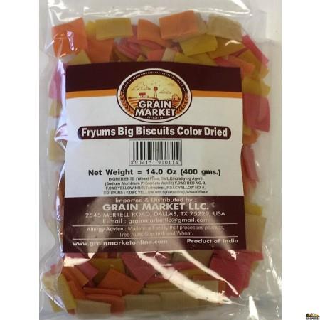 Grain Market Fryums Big Biscuits Color Dried - 400g