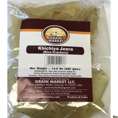 Grain Market Khichiya Green Chilli (Rice Crackers) - 400g