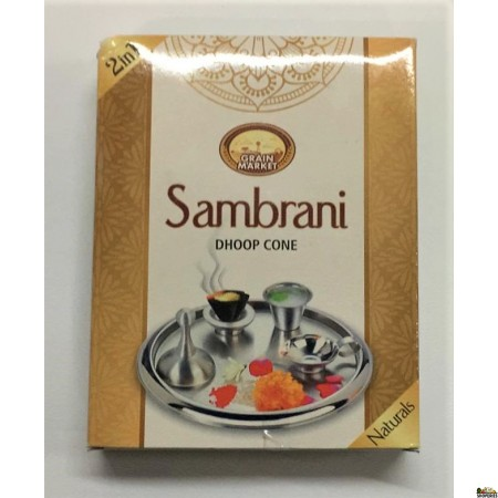Grain Market Sambrani Dhoop Cone 2 in 1