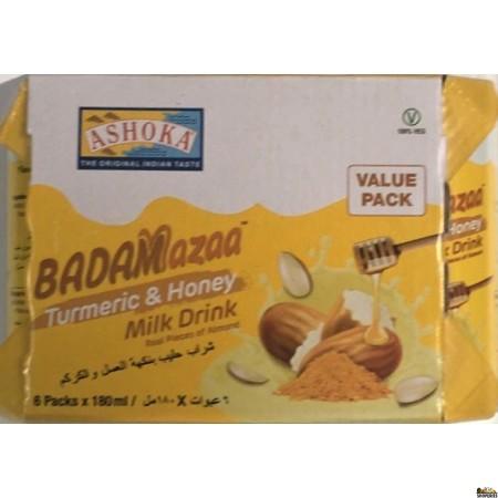 Ashoka Badam Mazaa Turmeric & Honey Milk Drink - 180ml x 6 packs