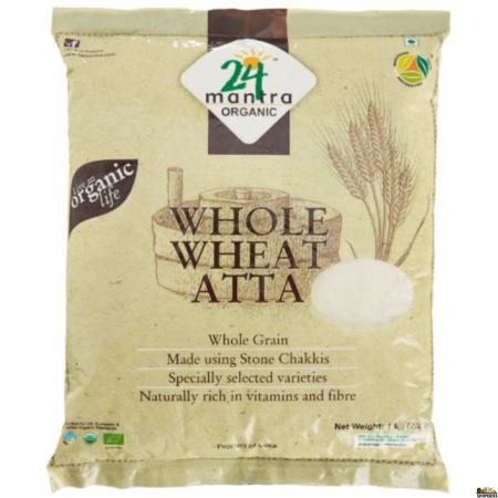 24 Mantra ORGANIC  whole wheat atta 2 lb