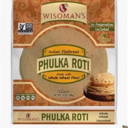 Wissoman Whole Wheat Phulka Roti Non GMO - 12 Count