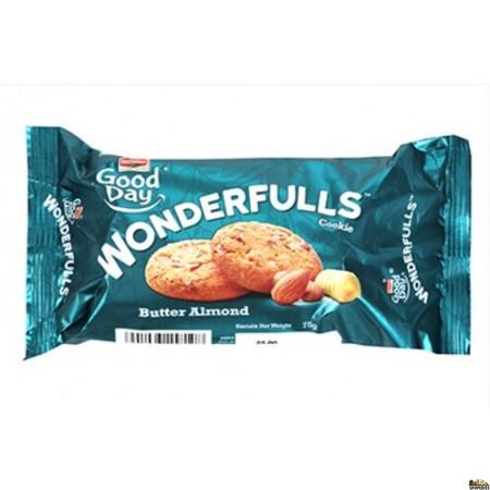 Britannia Good Day Wonderfulls Butter-Almond Biscuits - 75g