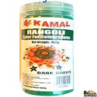 Kamal Rangoli Dark Green Color - 400 Gm