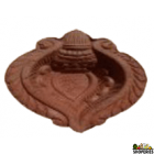 Clay Terracotta Designer Diya - Pack Of 6