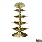 Brass Electric Diya 4 Step - 1 Count