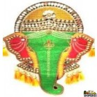 Green Wall Hanging Ganesha - 1 Piece