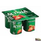 Dannon Activia strawberry yogurt 4 pack