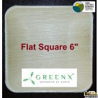GREENX 6Inch Flat Square Bowl - (25 Plated)
