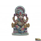 "Eco Friendly Ganesha Idol 9"" Inch - Grey Color"