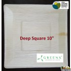 GREENX 10Inch Deep Square Plate - (25 Plated)
