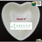 GREENX 6Inch Heart Shape Plate - (25 Plated)