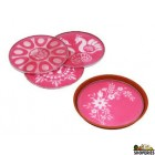 Mixed Rangoli Stencils 8 Inch - 1 count