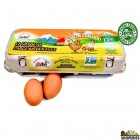 Go-organic Grade Aa Large Free Range Brown Eggs - 12 Count