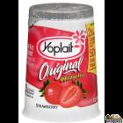Yoplait lowfat strawberry yogurt 3.5 oz