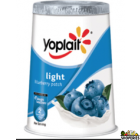 Yoplait lowfat blueberry yogurt 3.5 oz