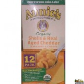 Annies Organic Homegrown, Shells & Real Aged Cheddar  - 6 oz