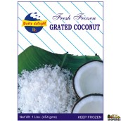 Daily Delight Fresh Frozen Grated Coconut 1/lb