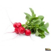 Organic Radish with leaves - 1 Bunch