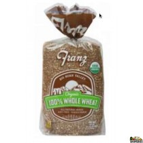 Franz 100% Whole Wheat Bread - Big Horn Valley Organic - 24 Oz