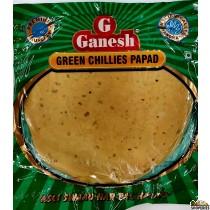 Ganesh Green Chillies Papad - 200g