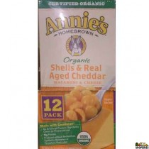Annies Organic Homegrown, Shells & White Cheddar  - 6 oz