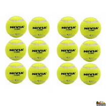 Nivia ARCL stamped hard yellow tennis balls (2 boxes)