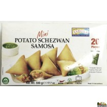 Ashoka Potato Schezwan Mini Samosa (Frozen)  20 Pieces - 500g