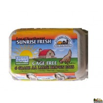 Grade AA Large Cage Free Brown Eggs - 6 Count