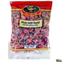 Dry whole Red Chillies round - 3.5 Oz