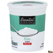 Everyday Essential Plain Yogurt Low Fat Milk - 32 oz