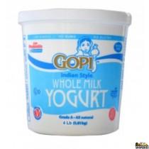 Gopi whole milk Yogurt - 4 lb