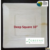 GREENX 10Inch Deep Square Plate (25 Plated)