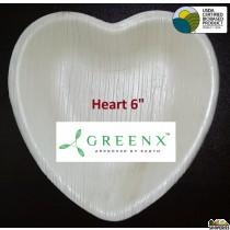 GREENX 6Inch Heart Shape Plate (25 Plated)