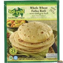 Garvi Gujrati Whole Wheat Phulka Roti Value Pack - 750g  (Frozen)
