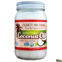 Hearty Naturals 100% Organic Unscented Coconut oil - 15 Oz