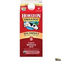 Horizon organic Vitamin D DHA Omega 3 Milk - Half gal