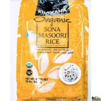 khazana Organic Sona Masoori Rice - 20 lb