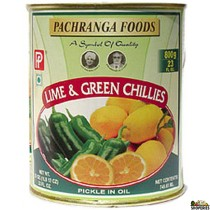 Pachranga Lime and Green Chilli Pickle Tin  800 gm