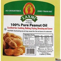 laxmi pure peanut Oil - 96 Oz