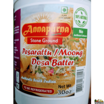 Annapurna Pesarattu / moong Batter - 30 Oz