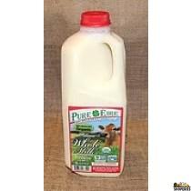 Pure Eiree Organic Whole Milk - 1/2 Gal