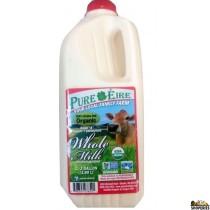 Pure Eiree Organic Cream On Top whole milk - 1/2 Gal