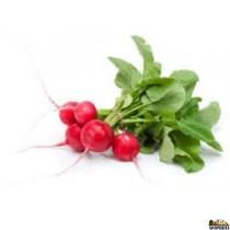 Organic Radish with leaves - 1 Bunch