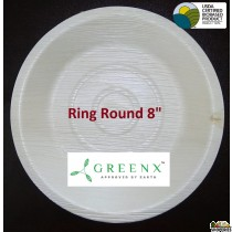 GREENX 8Inch Deep Round Bowl (25 Plated)