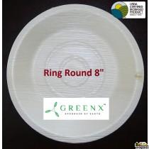 GREENX 8Inch Deep Round Bowl (25 Plated)