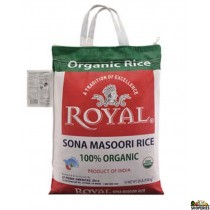 Royal ORGANIC Sona masoori rice - 20 lb (white)