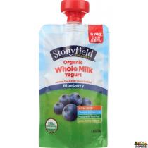 Stonyfield organic blueberry whole milk yogurt - 3.5 oz